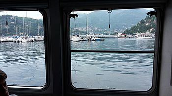 With the boat service over Lake Como