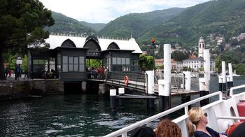 Boat mooring on Lake Como